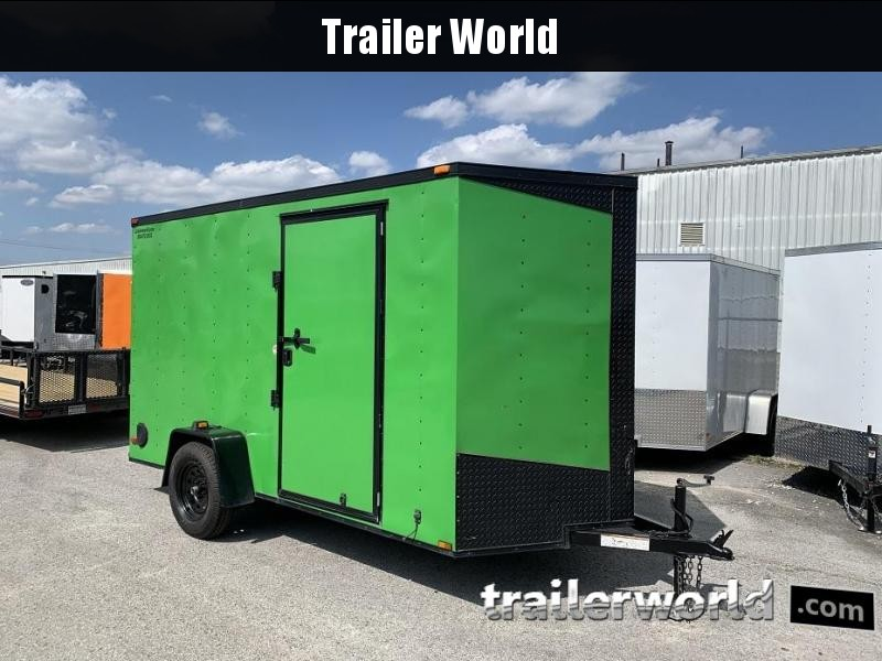 2015 Lark 6' x 12' x 6.5' Vnose Ramp Door Trailer
