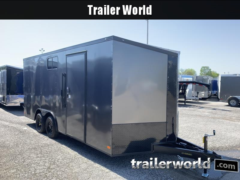 2020 CW 8.5' x 18' x 7' Tall Vnose Enclosed Cargo Trailer Camper Prep Pkg
