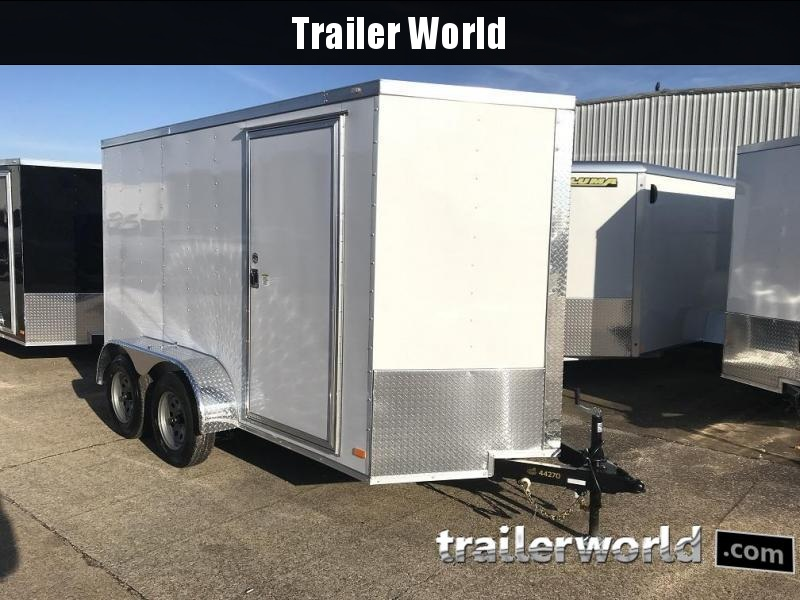 2020 CW 6' x 12' x 6.6' Vnose Tandem Enclosed Trailer Ramp Door