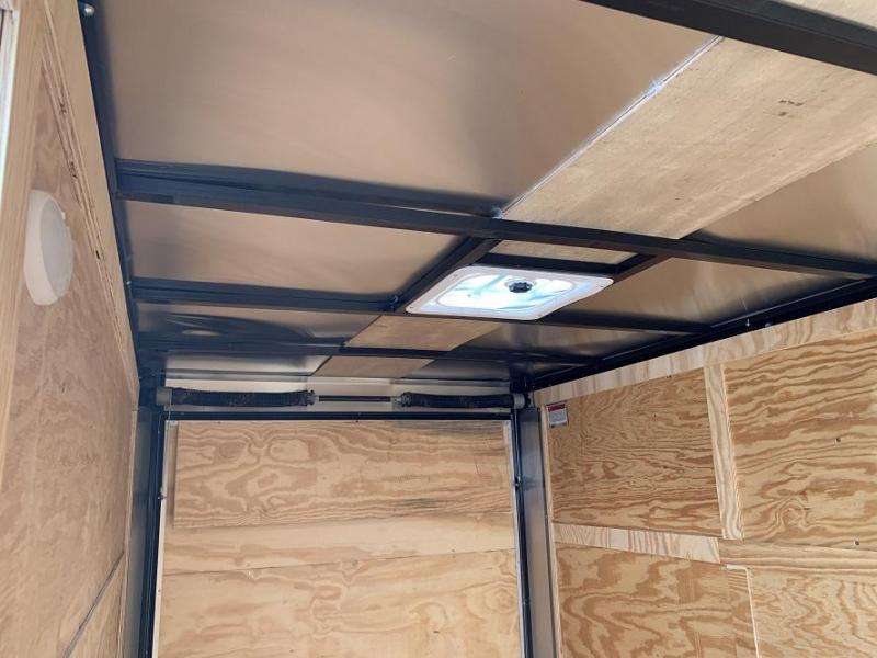 2020 CW 6' x 12' x 6.6' Vnose Tandem Enclosed Trailer Ramp Door
