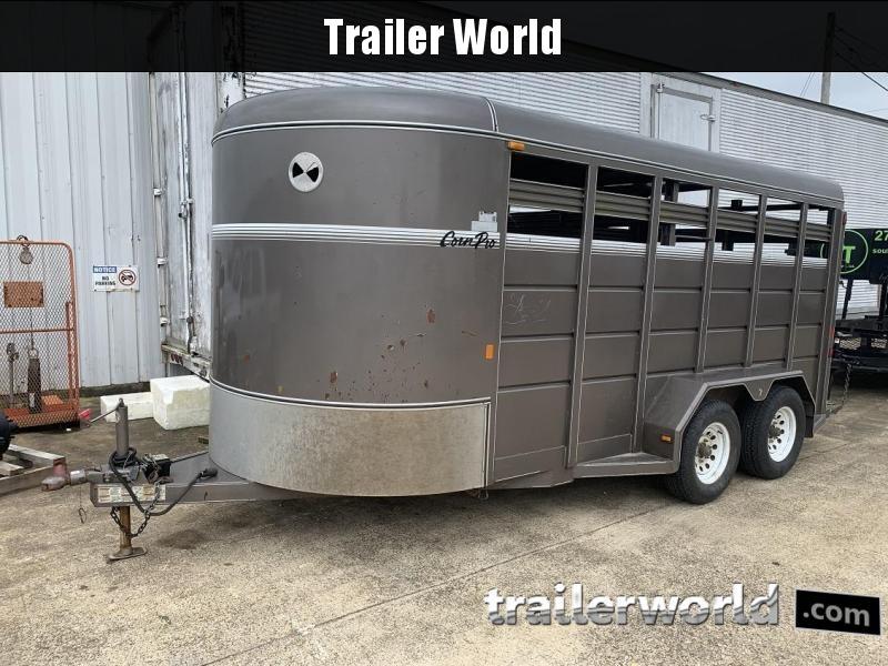 2014 cornpro trailers sb-16' bumper pull stock trailer