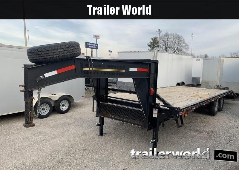 2013 Lone Wolf Gooseneck Flatbed Equipment Trailer 14k