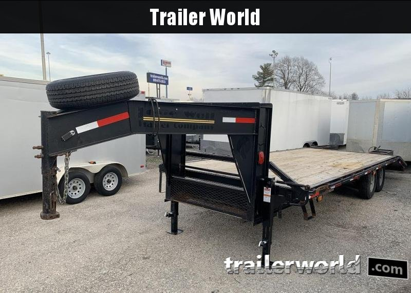 2013 Lone Wolf Gooseneck Flatbed Equipment Trailer 14k