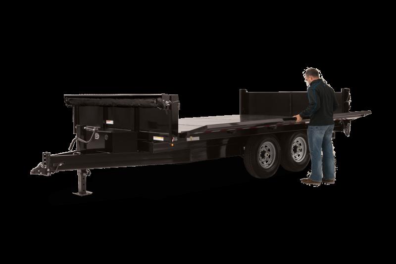 2020 Sure-Trac 8 x 16 Deckover  Scissor Dump Trailer 14k