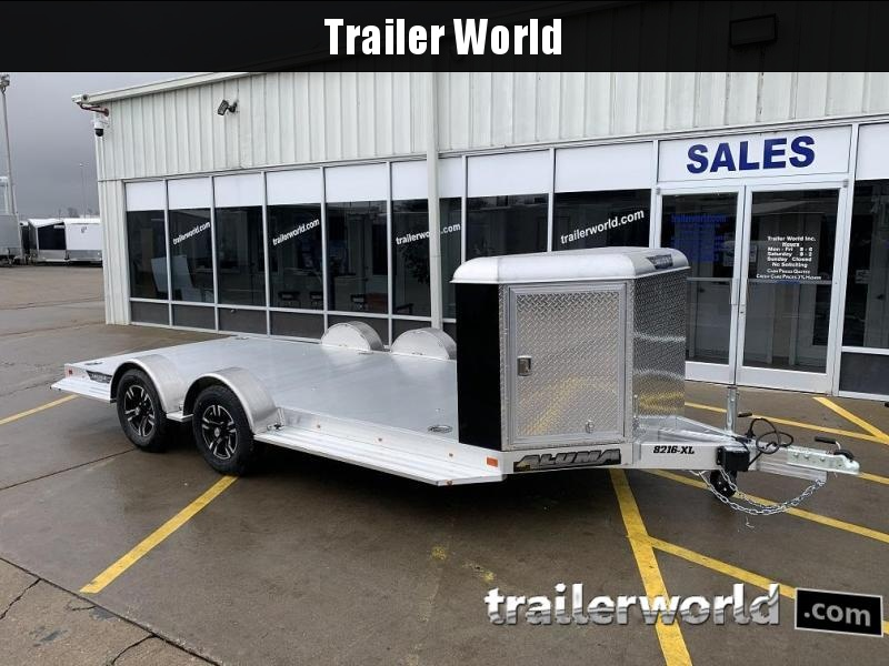 2020 Aluma Executive Series 8216-XL 16' Aluminum Open Car Trailer