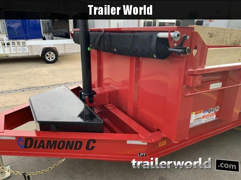 2020 Diamond C LPT 16' Telescopic Dump Trailer Low Profile