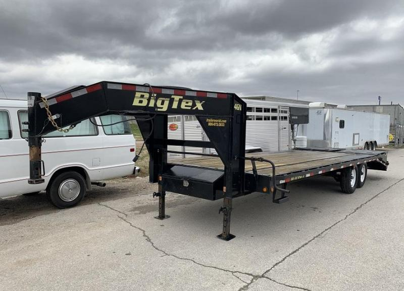 2016 Big Tex Trailers 14GN-20' + 5' Flatbed MEGA Ramps Equipment Trailer