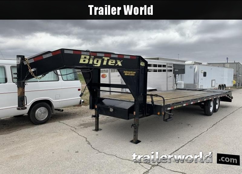2016 Big Tex Trailers 14GN-20' + 5' Flatbed MEGA Ramps Equipment Trailer