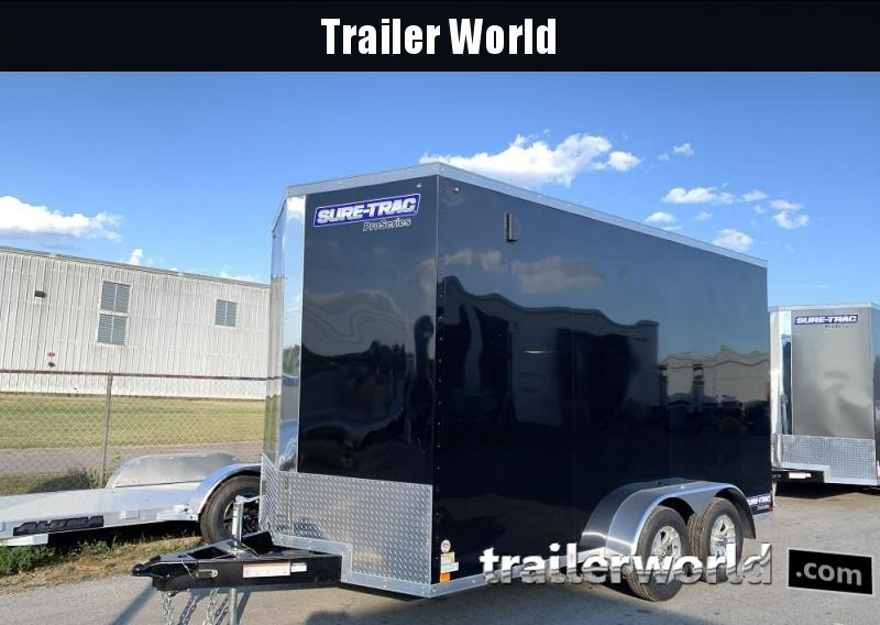 "2020 Sure-Trac 7 x 14' x 7'6"" Pro Series Wedge Cargo Trailer"