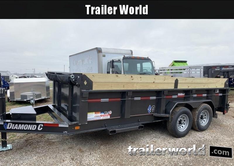 2020 Diamond C LPD 16' Low Profile Dump Trailer