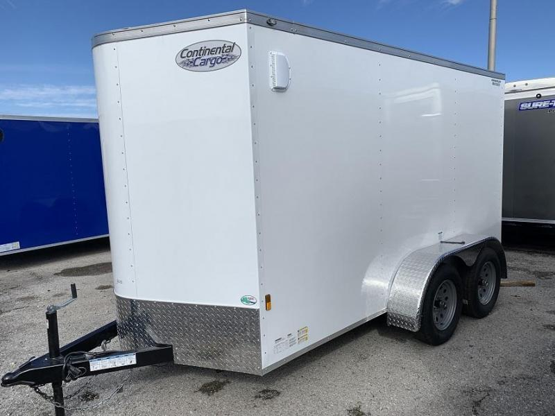 2020 Continental Cargo 6' x 12' Tandem Ramp Door Enclosed Cargo Trailer
