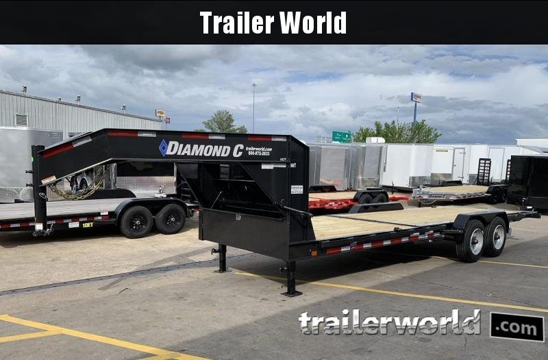 2019 Diamond C HDT Gooseneck 24' w/ 16' Tilt-Bed Equipment Trailer 10 Ton