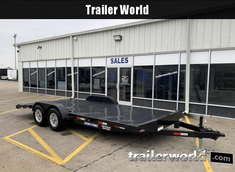 2020 Sure-Trac 20' Steel Deck Car Hauler Trailer 10k