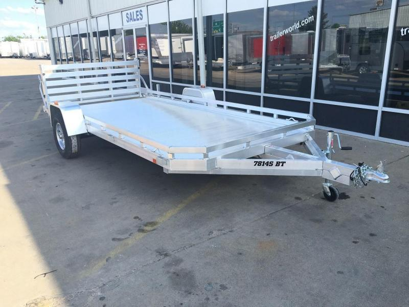 2020 Aluma 7814S 14' Aluminum Utility Trailer Bi-Fold Gate