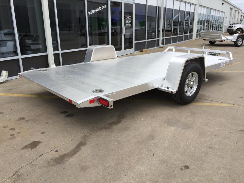 2021 Aluma 8214HS 14' Single Axle Aluminum TILT Open Car Hauler Trailer