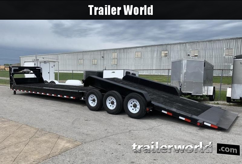 2017 PJ Trailers 38' Low Profile Gooseneck Tilt 24k GVWR Equipment Trailer