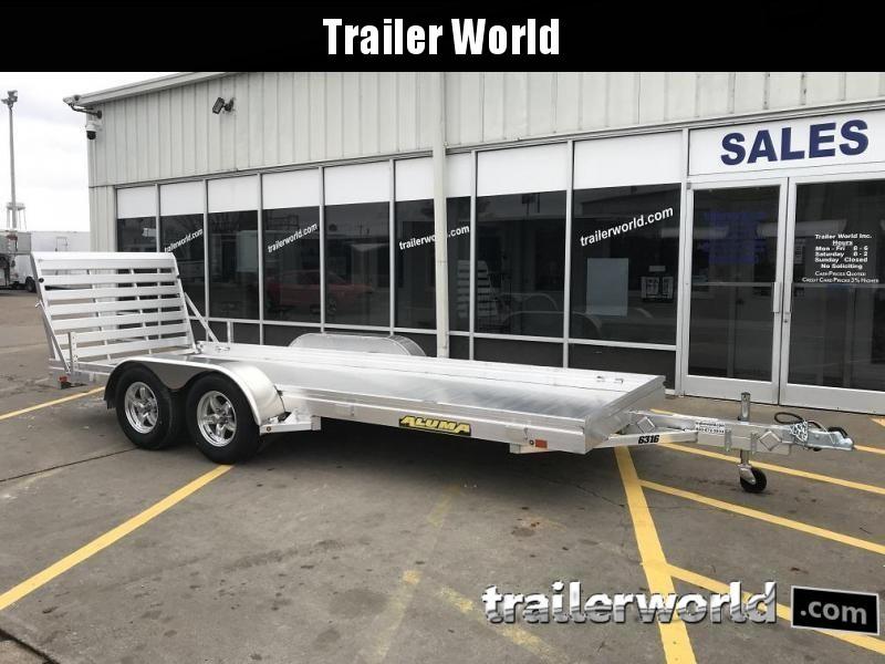2021 Aluma 6316 16' Tandem Utility Trailer