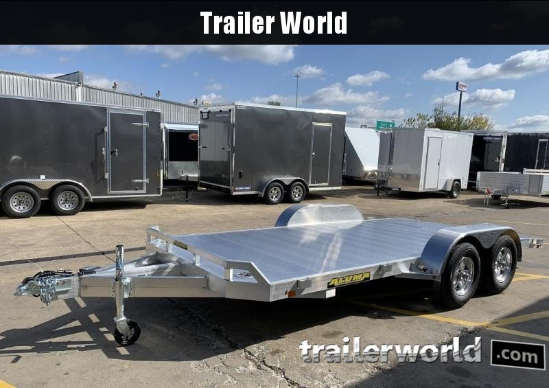2021 Aluma 8216B 16' Aluminum Open Car Trailer