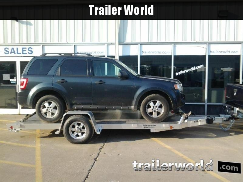 2020 Aluma 8214HS 14' Single Axle Aluminum Open Car Hauler Trailer