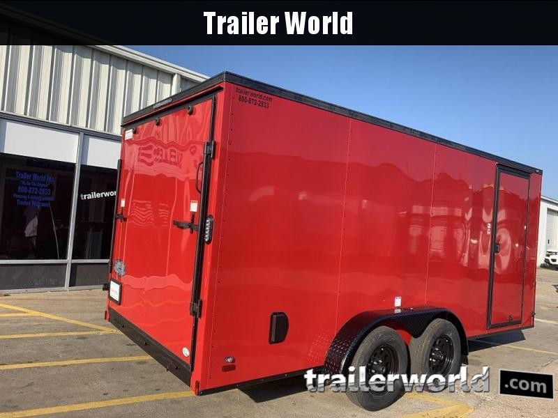 2020 Continental Cargo 7' x 16' x 6.3' Vnose Enclosed Cargo Trailer Black-Out Trim
