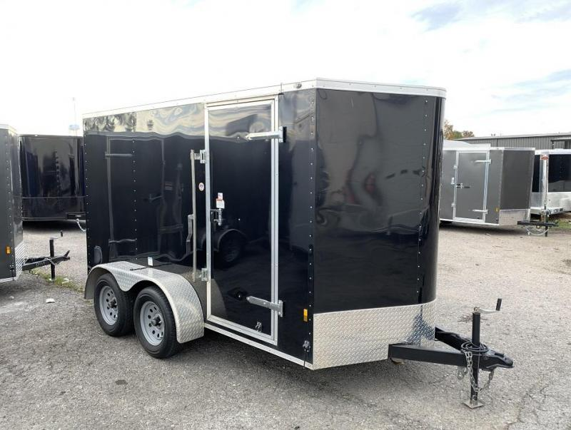 2019 Continental Cargo 6' x 12' x 6.3' Tandem Ramp Door Enclosed Cargo Trailer