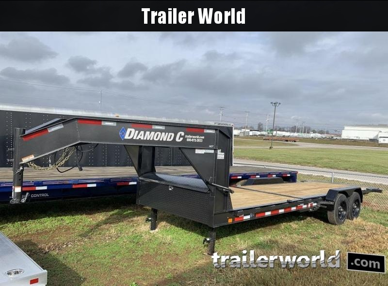 2020 Diamond C HDT Gooseneck 24' w/ 16' Tilt-Bed Equipment Trailer 10 Ton