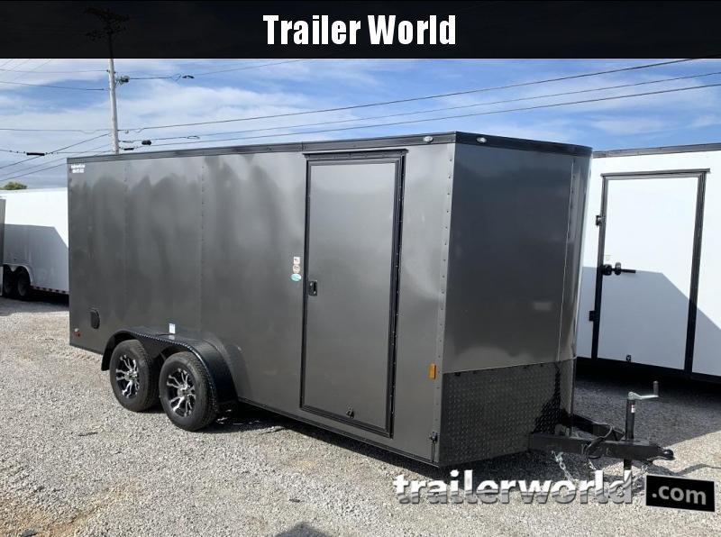 2020 Continental Cargo 7' x 16' x 6.3' Vnose Enclosed Cargo Trailer Black-Out Trim