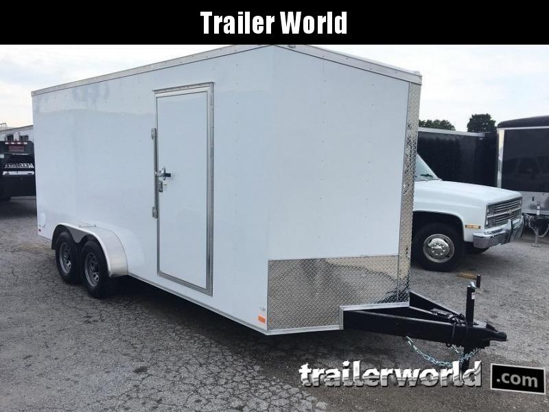 2020 CW 7' x 16' x 7' Enclosed Cargo Trailer 10k GVWR Double doors