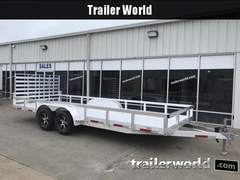 2019 Trailer World Aluminum 18' Utility Trailer