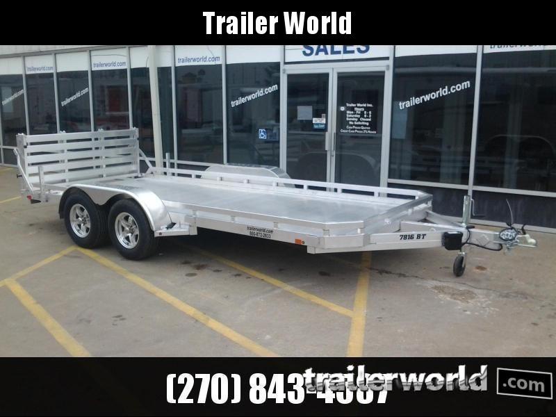 2021 Aluma 7816BT 16'  Aluminum Open Utility Trailer