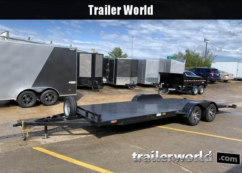2018 Other Outback 20 Steel Deck Car Hauler Flatbed Trailer