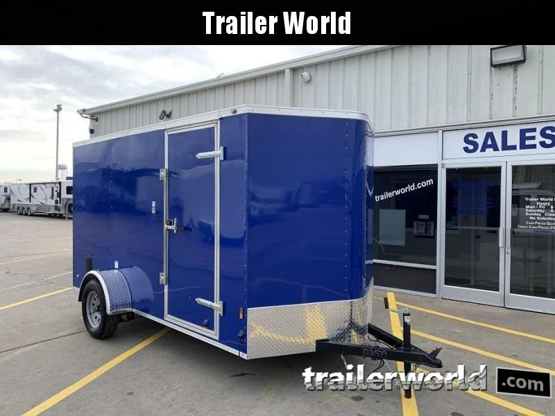 "2020 Continental Cargo 6' x 12' x 6'3"" Enclosed Cargo Trailer w/ D-RIngs"