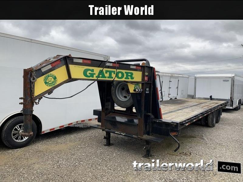 2017 Gatormade Trailers 25' Gooseneck Flatbed Trailer