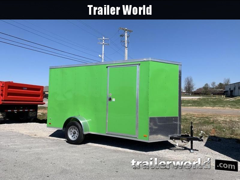 2019 CW 6' x 12' x 6.5' Vnose Enclosed Trailer Ramp Door
