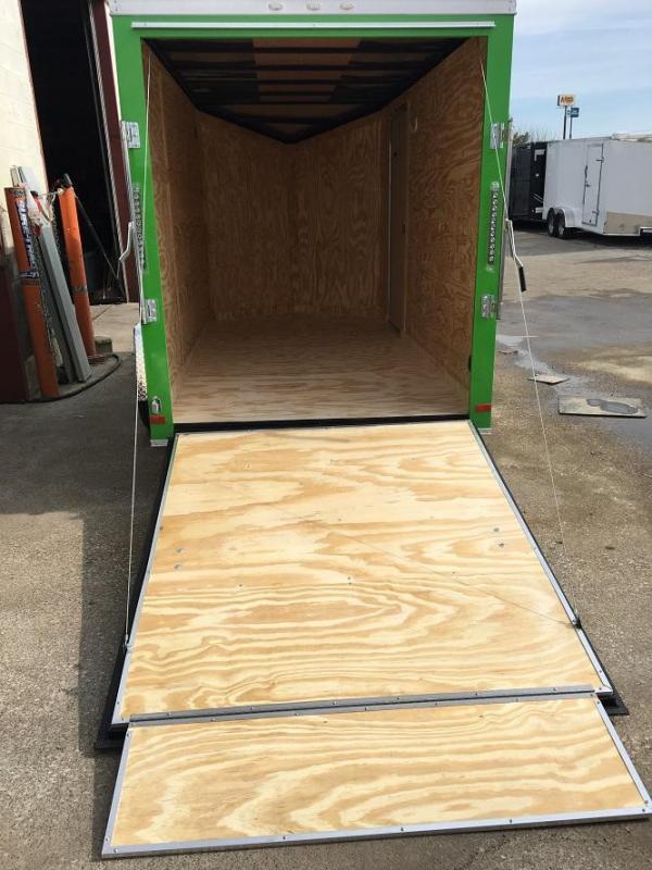 2019 CW 6' x 12' x 6.5' Vnose Enclosed Trailer Ramp Door