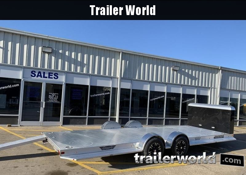 2021 Aluma Executive Series 8222H-XL 22' Aluminum Open Car Trailer