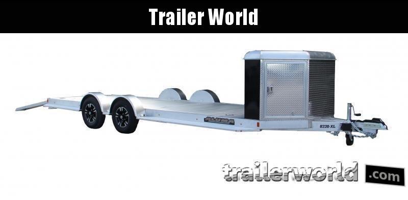 2020 Aluma Executive Series 8222H-XL 22' Aluminum Open Car Trailer