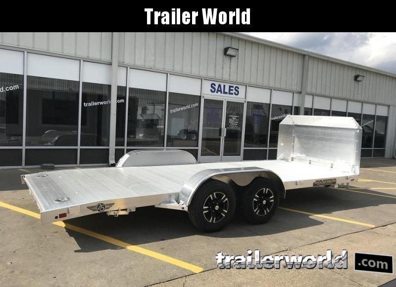 2020 Aluma Anniversary Edition 8220 20' Aluminum Open Car Trailer