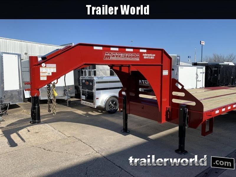 2020 Midsota 32' Hydraulic Dovetail Flatbed Gooseneck Trailer 25k GVWR