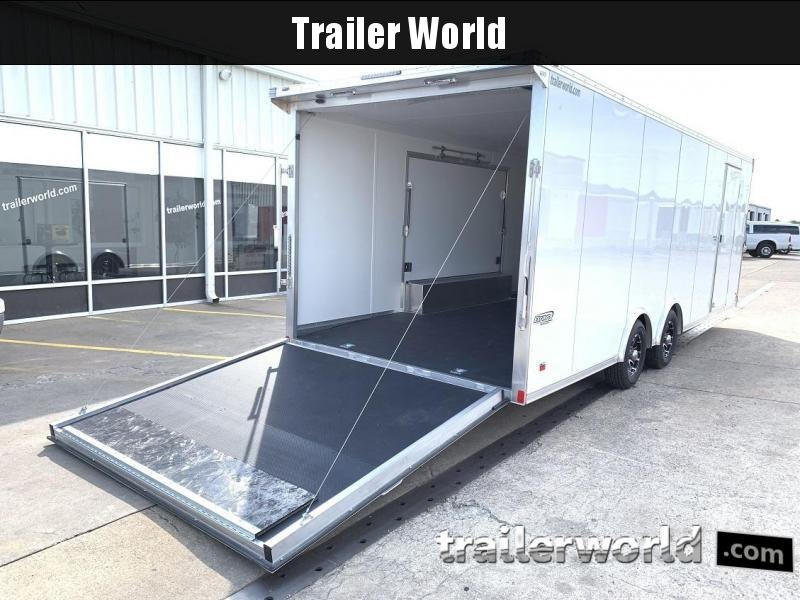 2020 Bravo Star 24' Aluminum Enclosed Car Trailer Spread Axles