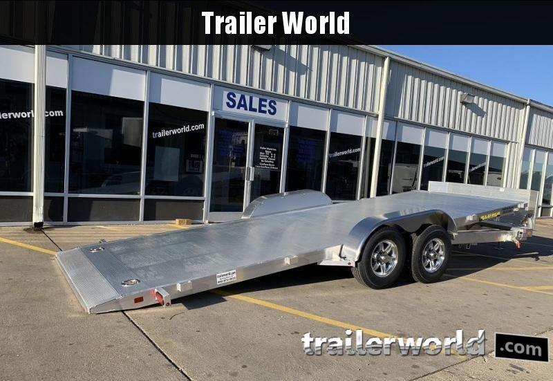 2020 Aluma 8220H Tilt Bed Aluminum Open Car Hauler Trailer 10k GVWR
