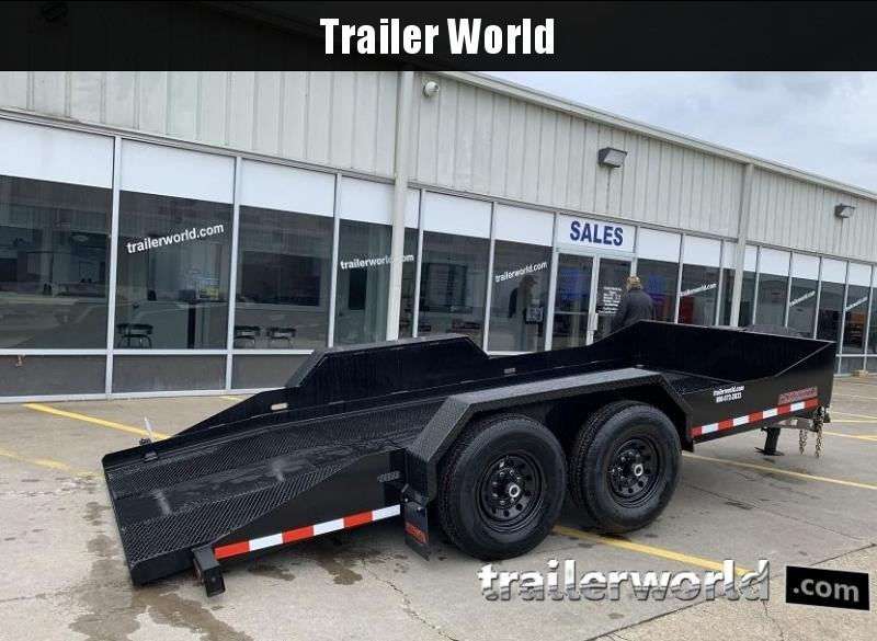 2020 Midsota SL16 16' Power Tilt Equipment Trailer