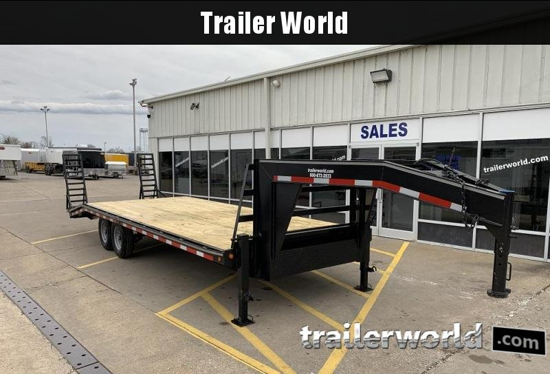 2020 Better Built 20' + 5'  7 Ton Gooseneck Flatbed Trailer