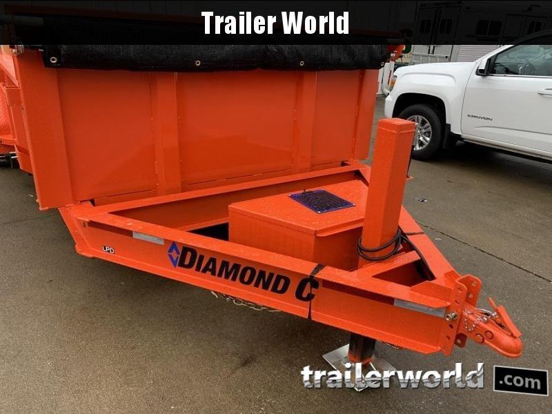 2020 Diamond C LPD 14' Commercial Grade Low Profile Dump Trailer
