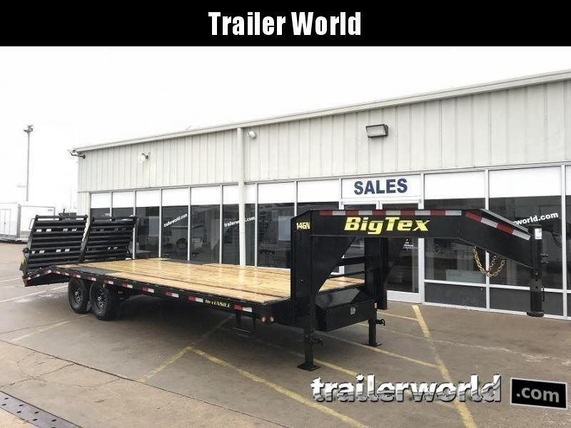 2020 Big Tex Gooseneck 14GN-20' + 5' Flatbed MEGA Ramps Equipment Trailer
