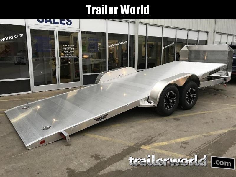 2021 Aluma 8220H Anniversary Edition Aluminum Tilt Bed Open Car Hauler Trailer 10k GVWR