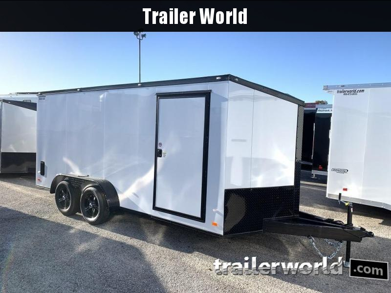 2020 CW 7' x 16' x 6.3' Vnose Enclosed Cargo Trailer BLACK OUT