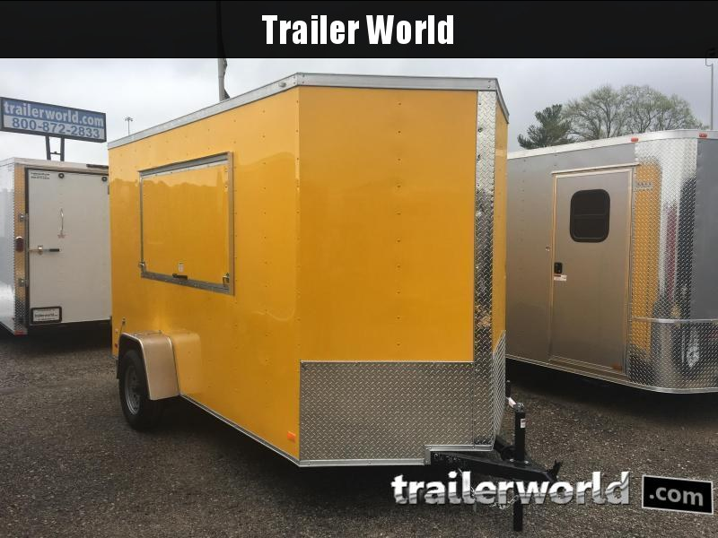 CW 6' x 12' x 7' Vendor Trailer