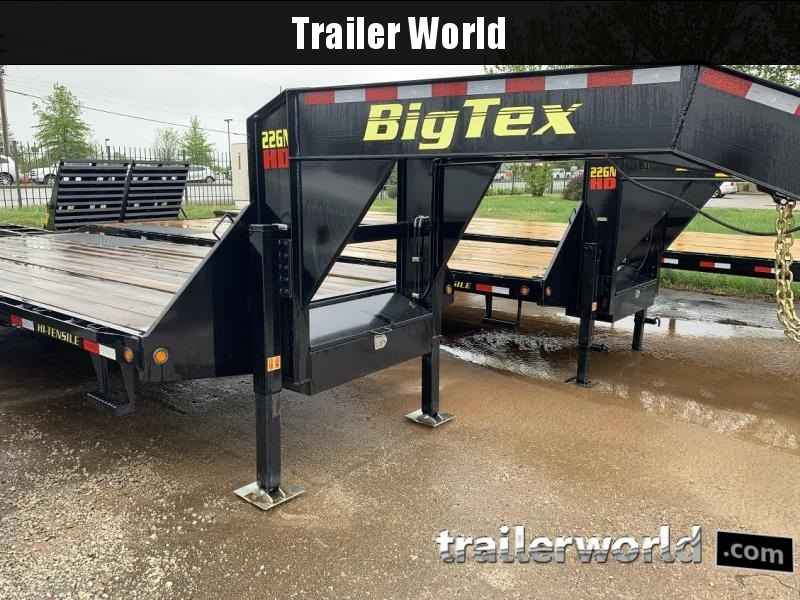 2019 Big Tex Trailers 22GN-20' + 5' Gooseneck Flatbed Trailer HYD Jacks