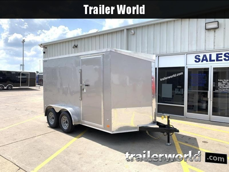 2020 CW 7' x 12' x 6.5' Cargo Vnose Enclosed Trailer Ramp Door